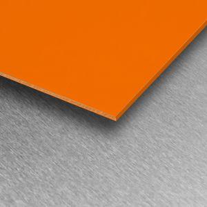 Orange Gloss PVC Wall Cladding Sheet